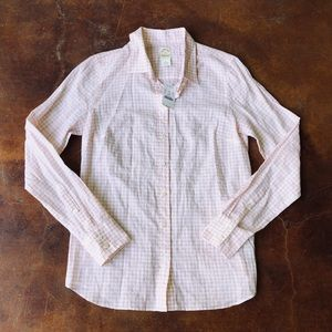 J. Crew Perfect Shirt in Suckered Gingham NwT 4 S